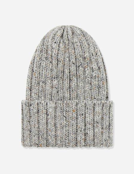 Highland Headwear Highland Wool Donegal Beanie Hat - Heather Grey