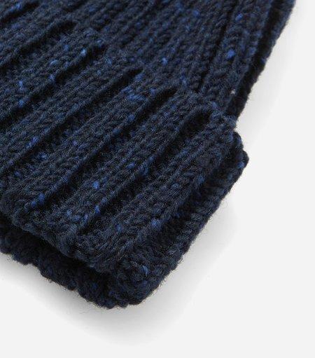 Highland Headwear Highland Wool Donegal Beanie Hat - Navy Blue