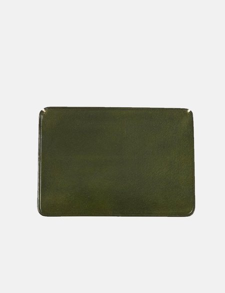 Il Bussetto Small Leather Card Holder - Dark Green