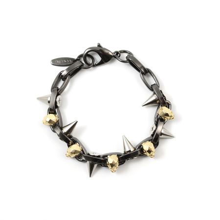 Joomi Lim Skull and Spike Bracelet - Hematite/Gold/Rhodium
