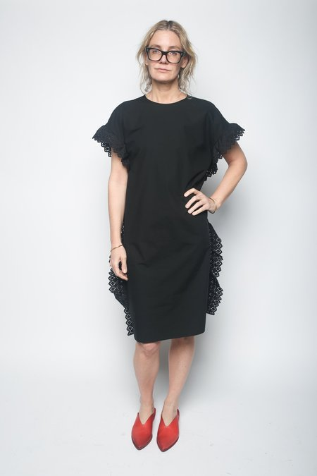 Leur Logette Side Frill Dress - Black