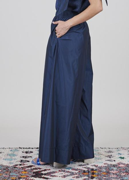 Igor Dobranic Chelsea Wide Leg Pant - Deep Blue