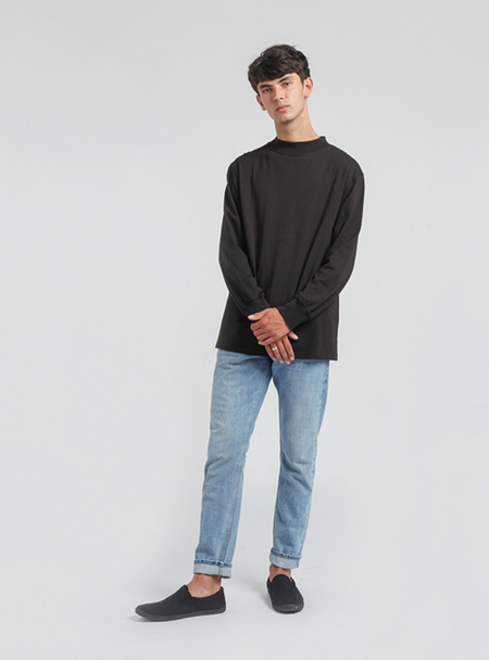 I AND ME Long Sleeve T - BLACK