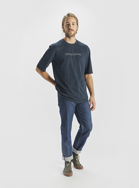 I AND ME Embroidered Essential T - Indigo