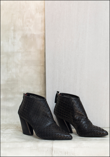 Halmanera Woven Leather Bootie