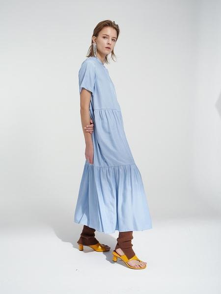 MARDI MERCREDI Tier Dress - Sky Blue