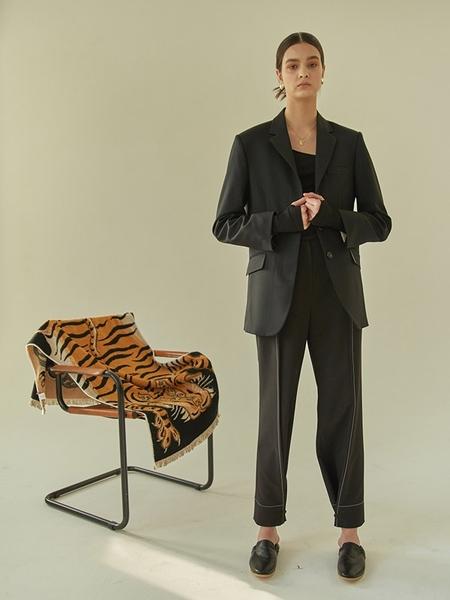 MA JOURNEE Minimal Hidden Jacket - Black