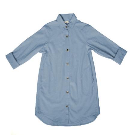 Curator Work Shirt - Blue Cloud