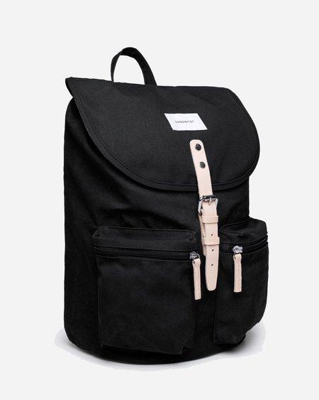 Sandqvist Roald Backpack - Black/Natural Leather