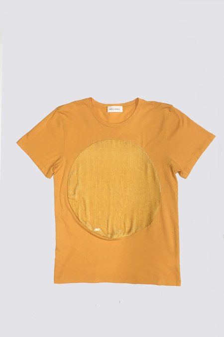 95edd25e6054b1 UNISEX Correll Correll Velvet Circle T-shirt - Yellow