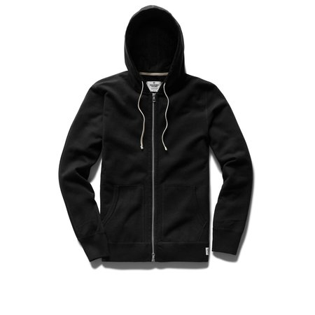 Reigning Champ Mid Weight Zip Hoody - Black