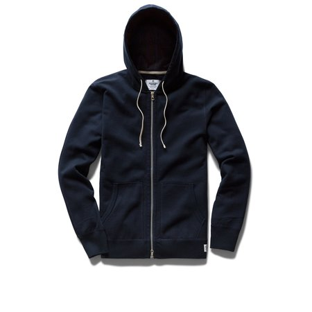 Reigning Champ Midweight Terry Zip Hoody - Navy