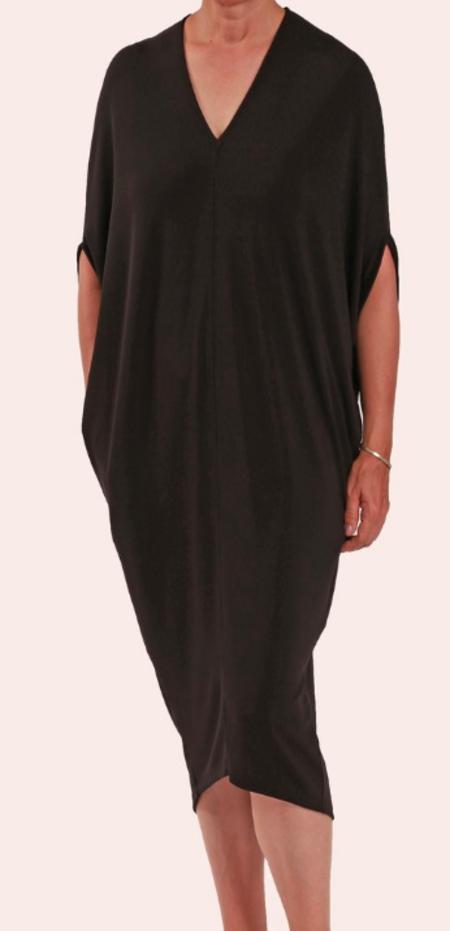 Ayrtight Drape Dress - Black