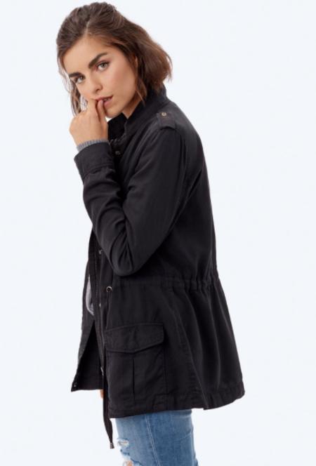 Love Stitch Karin Military Jacket - black