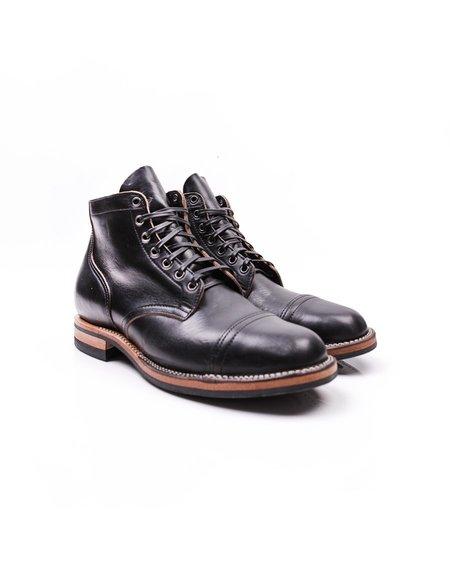 Viberg Service Straight Toe Cap Boot - Black CXL
