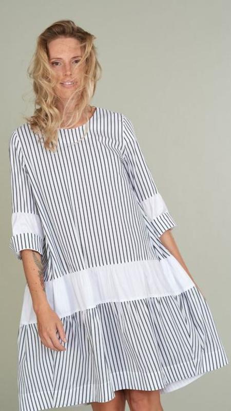 Hubert Gasser A-Shaped Striped Dress - Blue/White