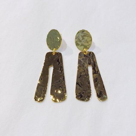 Judith Amiel Shapes Earrings 1 - 14k Gold