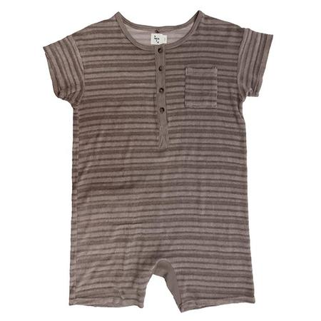 KIDS Nico Nico Spiro Striped Romper - Birch Grey