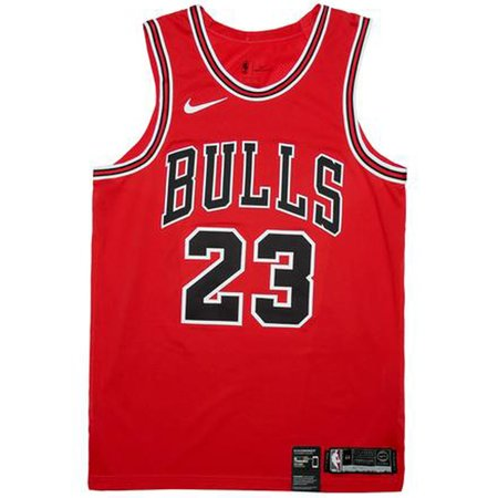Air Jordan Michael Jordan Authentic Chicago Bull Jersey 'Icon Edition' - University Red