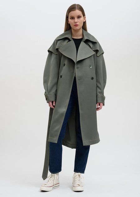 Feng Chen Wang Double Breasted Coat - Green