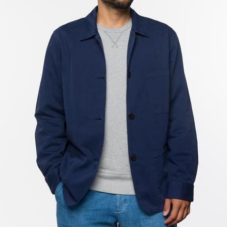 Portuguese Flannel CHORE JACKET - NAVY