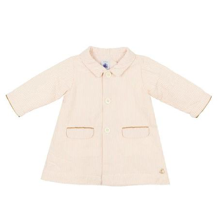 KIDS Petit Bateau Seersucker Jacket - Pink/White Stripes