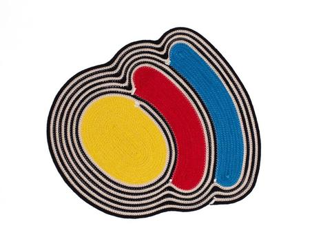 Ugly Rugly Eatto Mat - Yellow/Red/Blue