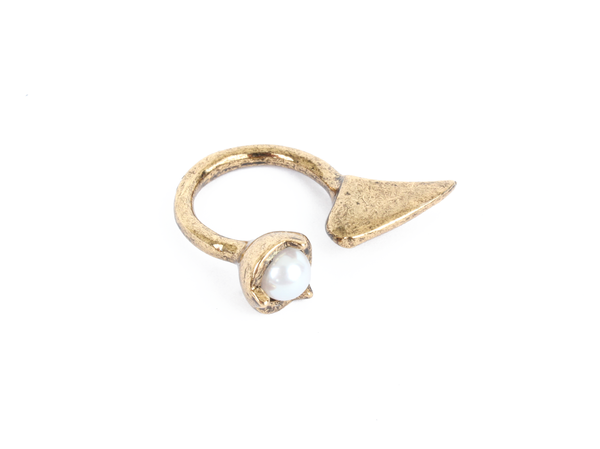 Bones + Feathers Collective Pearl + Fin Ring