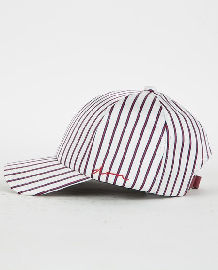 DON PARIS SATIN STRIPED DON LOGO CAP