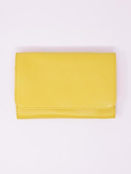 Payton James Leather Travel Wallet - Yellow
