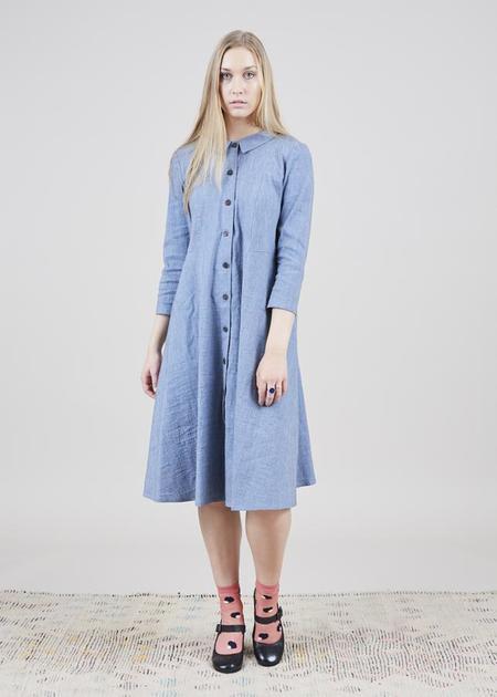 Echappees Belles Faustine Spring Coat - blue