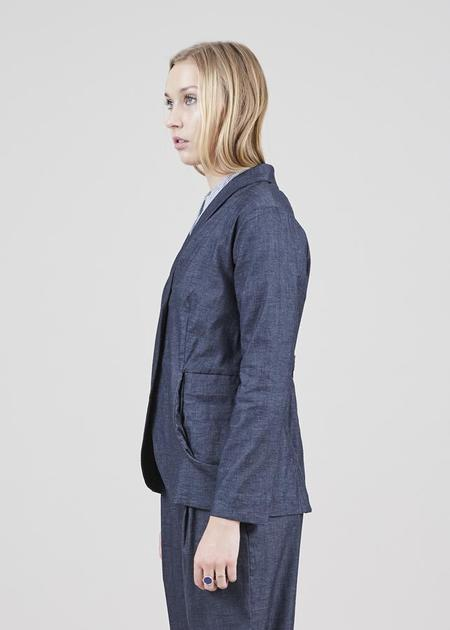 Echappees Belles Feuille Stretch Jacket - charcoal