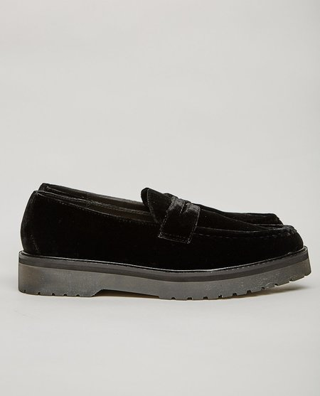 Saturdays NYC IDRIS VELVET LOAFER - BLACK