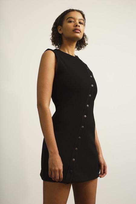 PARIS GEORGIA Track Dress - Black