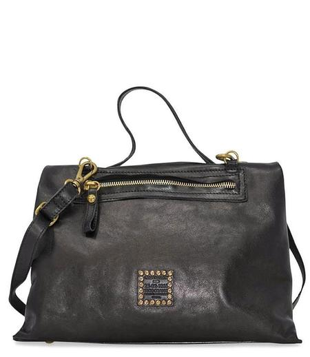 Campomaggi Leather Briefcase Bag - Black