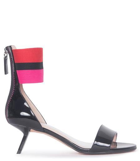 ALCHIMIA DI BALLIN Alya Patent Leather Sandal - Black