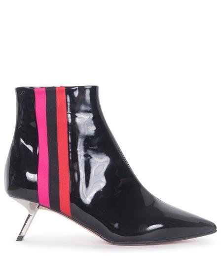 ALCHIMIA DI BALLIN Libra Patent Leather Ankle Bootie - Black