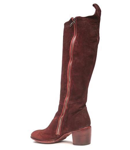 Lemargo Mid Heel Knee High Boot - Copper