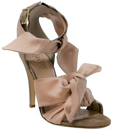 Gia Couture Satin Sandals - beige
