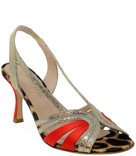 Gia Couture Leather Sandals - Leopard