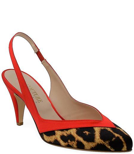 Gia Couture Satin Pump - Leopard