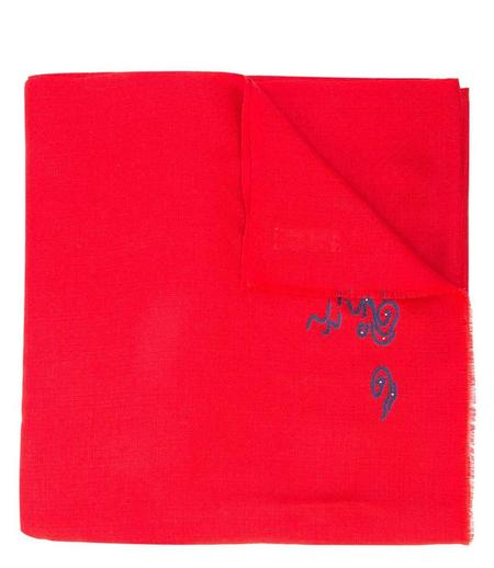 K. Janavi Cashmere Scarf - Red