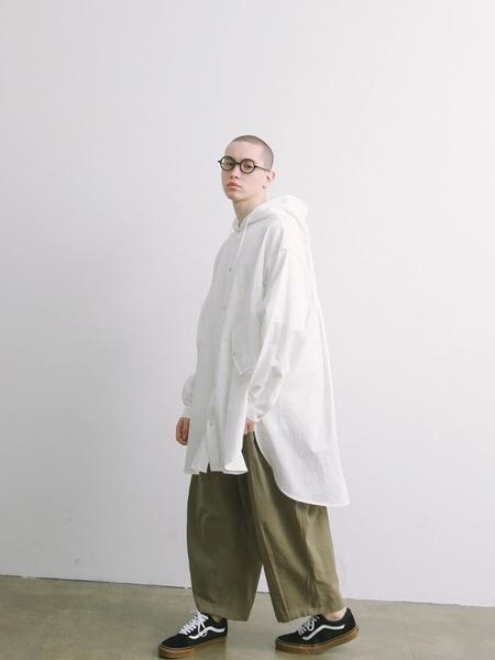 Daily Inn Door Man Oversized Long Shirt Jacket - White