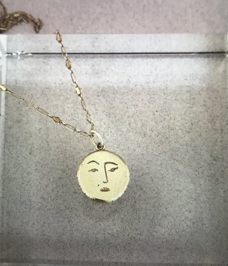 Mercurial NYC Sassy Moon Necklace - Gold