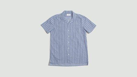 Libertine Libertine Cave Short Sleeve Shirt - Royal Stripe