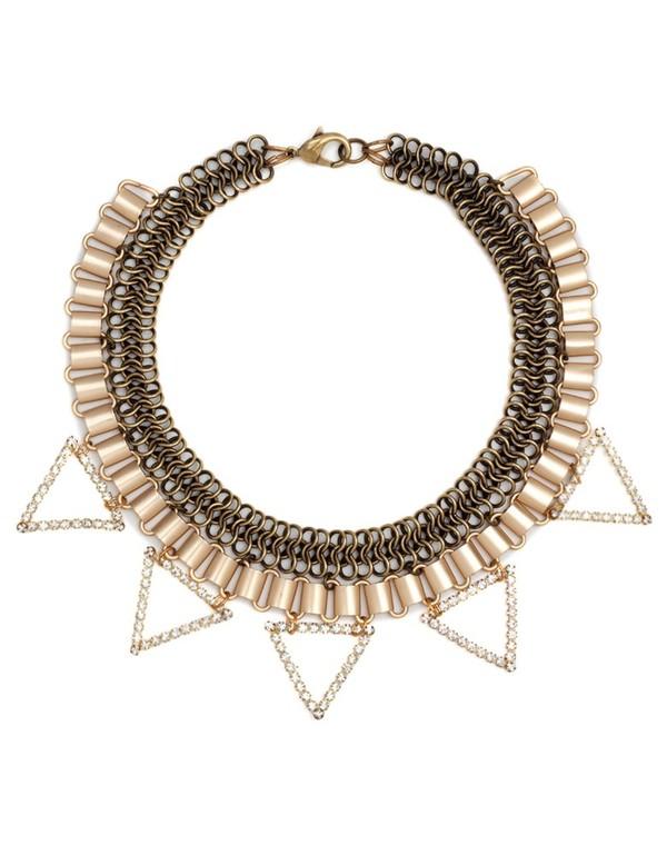 Paula Rosen Rhinestone Triangle Collar Necklace