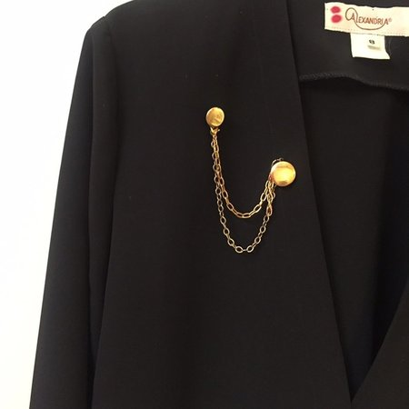 Reworked Vintage with Chain Detail - Black