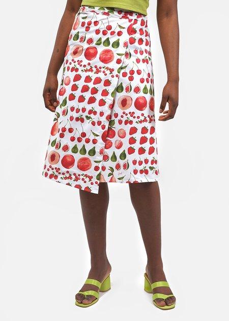 Lisa Says Gah Capri Wrap Skirt - Fruit Print