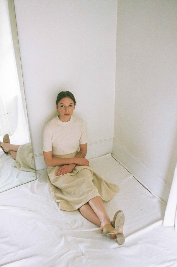 Han Starnes Pleated Skirt - Cream