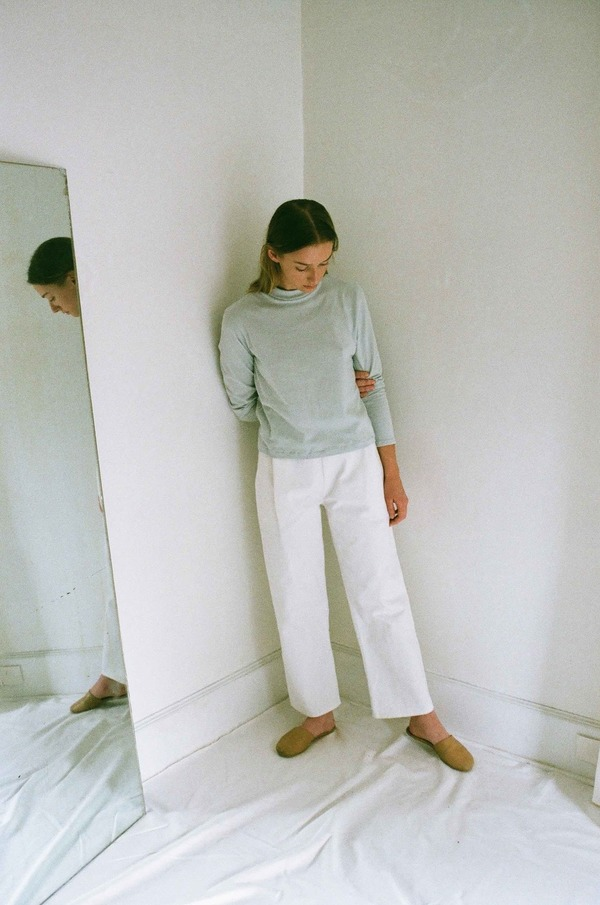 Han Starnes Long-Sleeve Jersey Top - Ash Gray